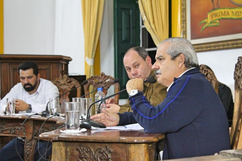 Vereador Marcelo Macedo (PSDB) faz uso da palavra.