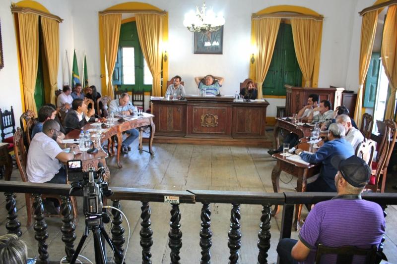 Plenário da Câmara durante sessão ordinária.