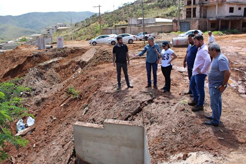 Vereadores fazem visita técnica aos bairros Nossa Senhora Aparecida e Rosário.