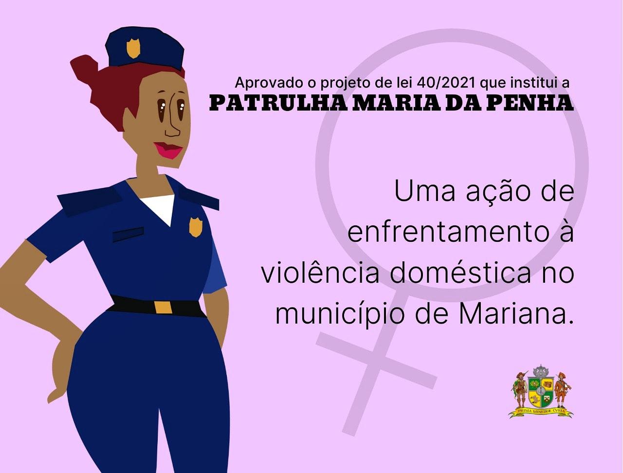PROJETO DE LEI QUE CRIA PATRULHA MARIA DA PENHA É APROVADO N