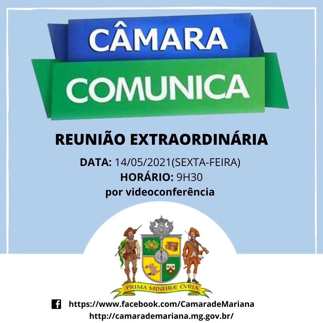 CÂMARA REALIZA REUNIÃO EXTRAORDINÁRIA NESTA SEXTA-FEIRA,14/0